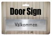 Dörrskylt -välkommen