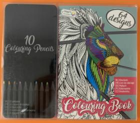 Målarbok med färgpennor