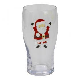 Ölglas med tomte