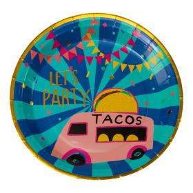 Papperstallrikar i 8-pack -Tacos