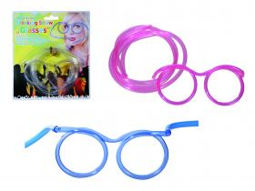 Partyglasögon med sugrör