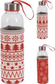 Vattenflaska i glas -Jul