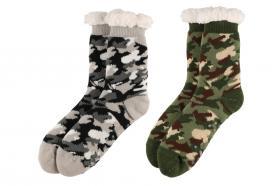 Varmfodrade sockor -Kamouflage