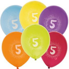 """Ballonger i 6-pack """"5"""""""