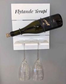 Tavelhylla för flaska och glas -Flytande Terapi