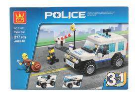 Byggklossar set 3 i 1 -Police