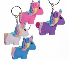 Nyckelring -Glitterbajsande Unicorn