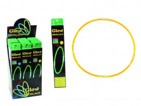 Glow in the dark -halsband grön