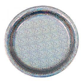Assiett 8-p (holografisk silver)