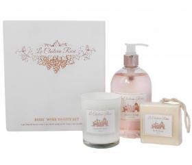 Presentset tvål & ljus -Rosé