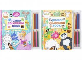 Målarbok och pennor