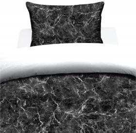 Bäddset 2-delar -Svart marmor