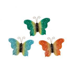 Fjäril i hamrad plåt med magnet