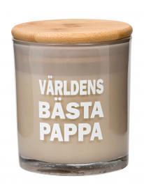 Doftljus -Världens bästa pappa (ljusgrå)
