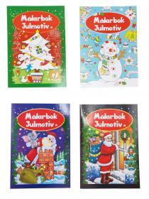 Målarbok -Julmotiv