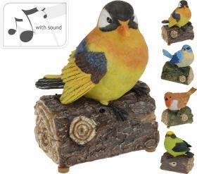 Visslande prydnadsfågel med rörelsesensor