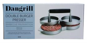 Dubbel hamburgerpress