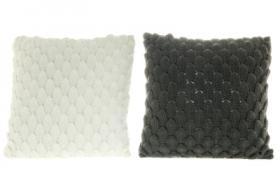 Kudde med stickat mönster