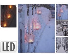Canvastavla LED med vintermotiv