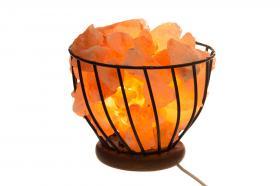 Saltkristalllampa -Eldkorg
