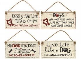 Skylt -Dogs