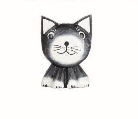Kylskåpsmagnet -Katt