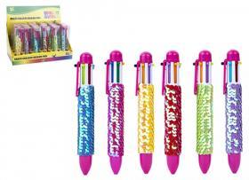 Färgpenna med paljetter