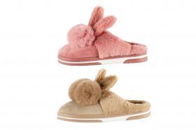Damtofflor med kaninöron