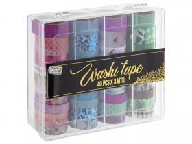 Washi tape 40 rullar i box