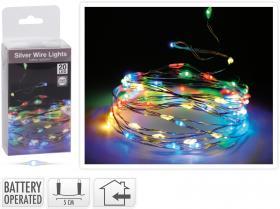 Ljusslinga/tråd flerfärgad