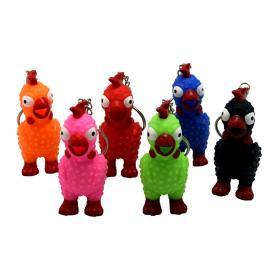 Nyckelring -bajsande kyckling