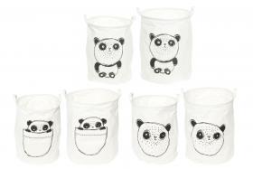 Förvaringskorg i 2-pack -Panda