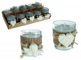 Doftljus - glas med prydnads dekoration