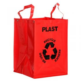 Recycle bag -Plast (röd)