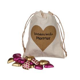 Säck med chokladhjärtan (Mormor)