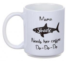 Porslinsmugg -Mama Shark