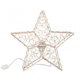 Stjärnformad lampa i smide (guld)