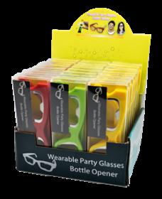 Partyglasögon med flasköppnare