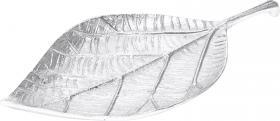 Lövformat fat (Silver)