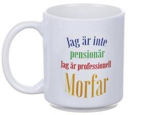 Mugg -Jag är inte pensionär (Morfar)