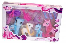 Ponny set i 4-pack med tillbehör