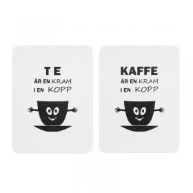 Tavla i trä -Kaffe/Te