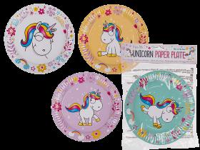 Papperstallrikar -Unicorn