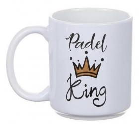 Porslinsmugg -Padel King