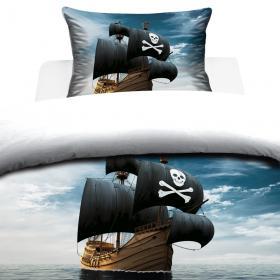 Bäddset 2-delar -Piratskepp
