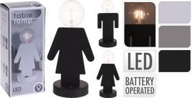 Bordslampa Kvinna/Man