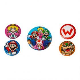 Knappar/pins -Super Mario