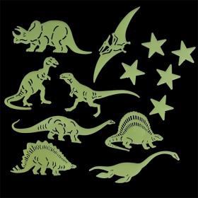 Självlysande stickers -Dinosaurier