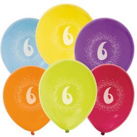 """Ballonger i 6-pack """"6"""""""