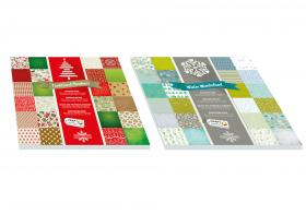 Papper med julmotiv 30,5 x 30,5 cm